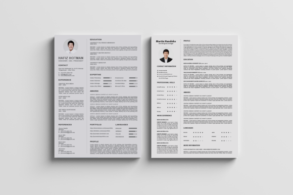 Clean and Professional CV / Resumes by Design Studio Pro on Creative Market