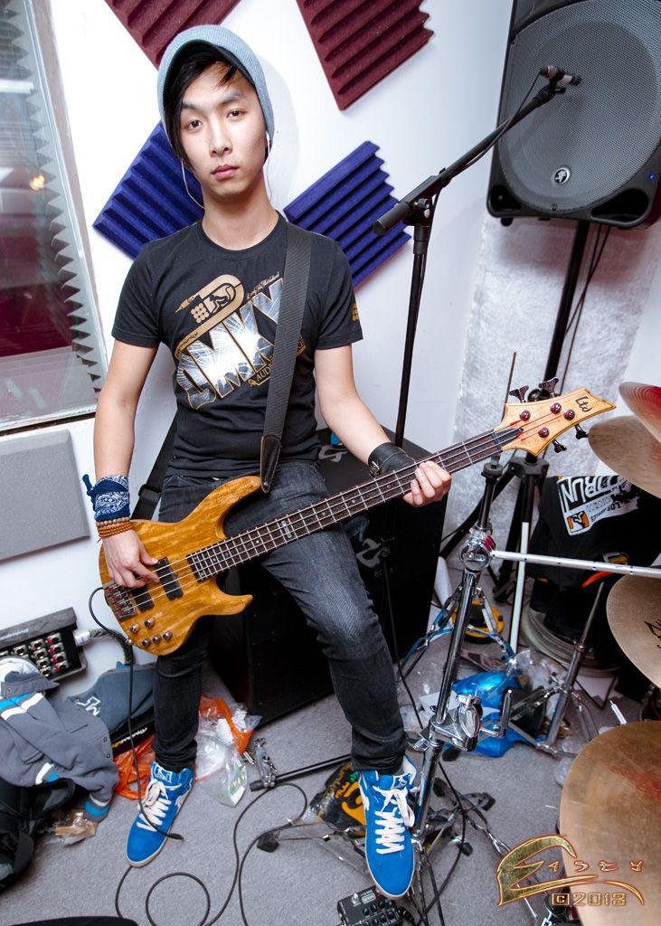 @Silent Descent bass player Jimmy Huang rockin' some Drunknmunky clothing! Photography by Danny Eastman www.e45ty.com