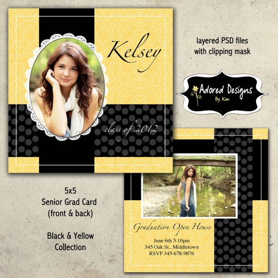 free senior templates for photoshop - graduation announcement templates for photoshop one 5x5