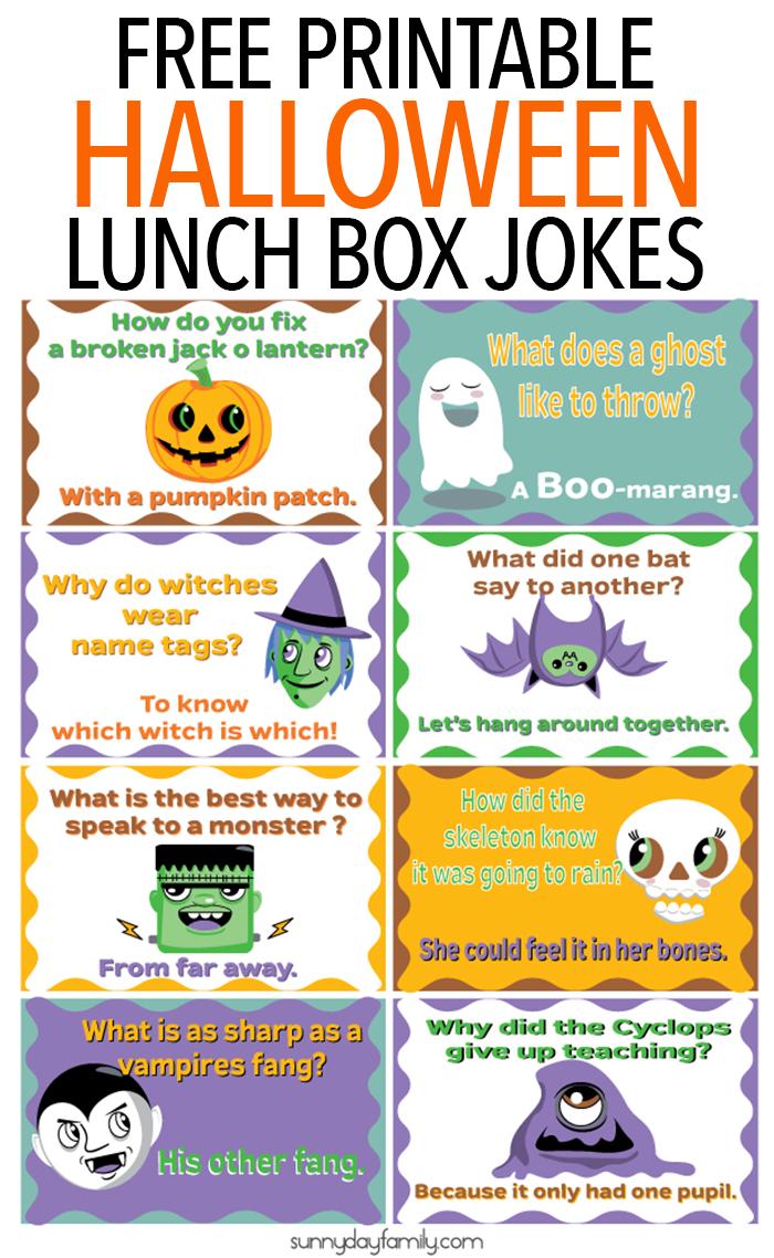 Funny Jokes For Kids Halloween.Free Printable Halloween Lunch Box Jokes For Kids Lunchbox Jokes Halloween Lunch Box Jokes For Kids