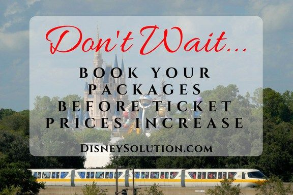 Don't Wait...Book Your Packages Before Ticket Prices Increase