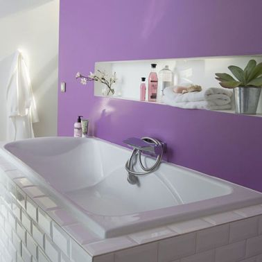 26 couleurs peinture salle de bain pleines d 39 id es salle de bain violet - Idee couleur salle de bain ...