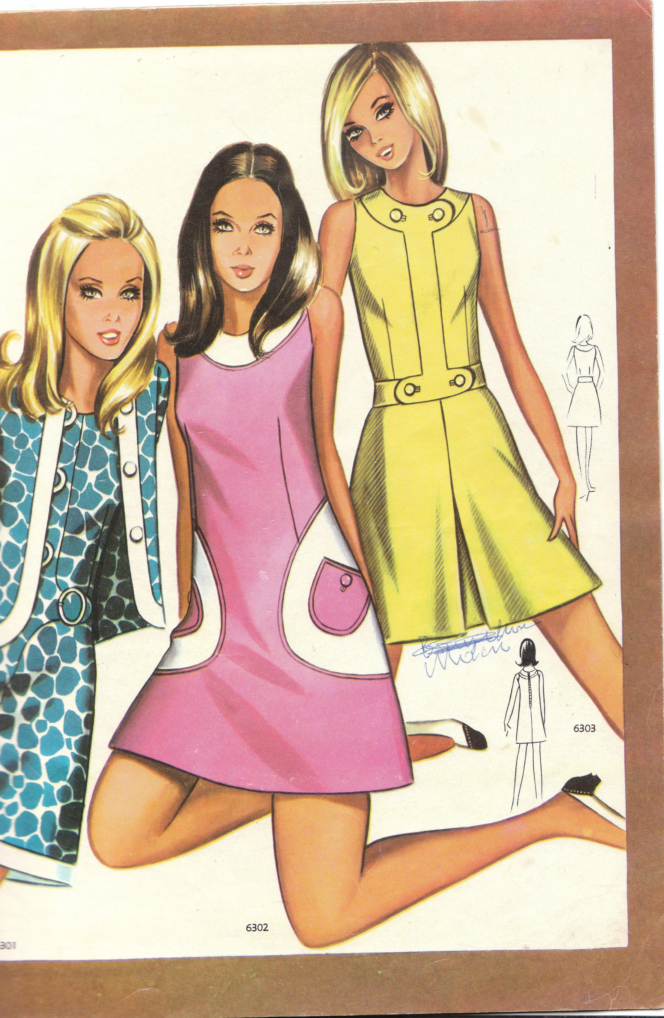 1970s Mini Dress Pattern | vestidos años 70 | Pinterest | Mode ...