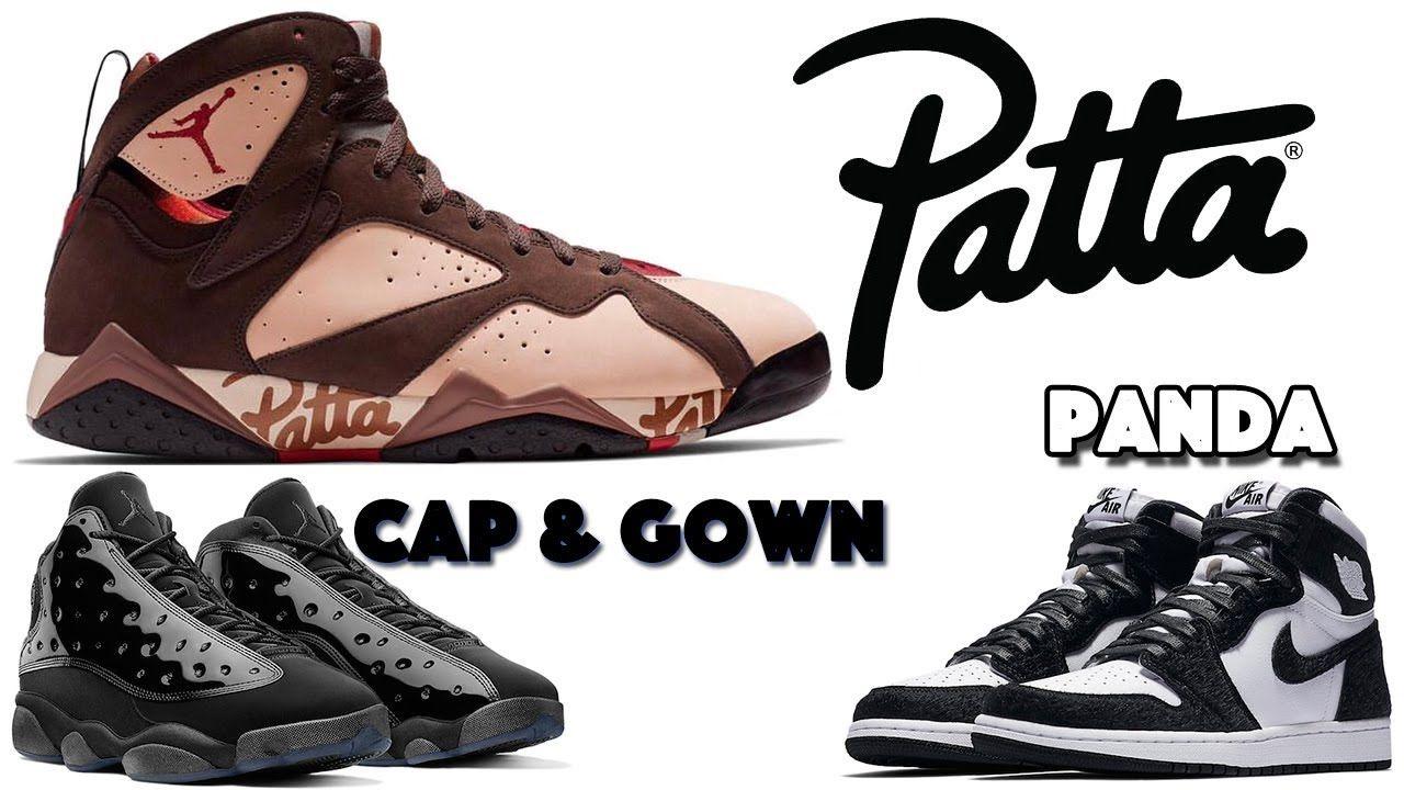 PATTA AIR JORDAN 7, JORDAN 13 CAP AND GOWN, JORDAN 1 PANDA