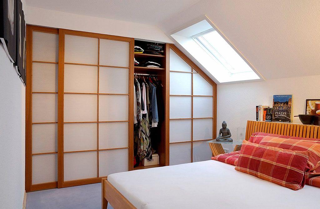 Japan Schiebtüren Schlafzimmer Kleiderschrank Kirschholz Massiv mit ...