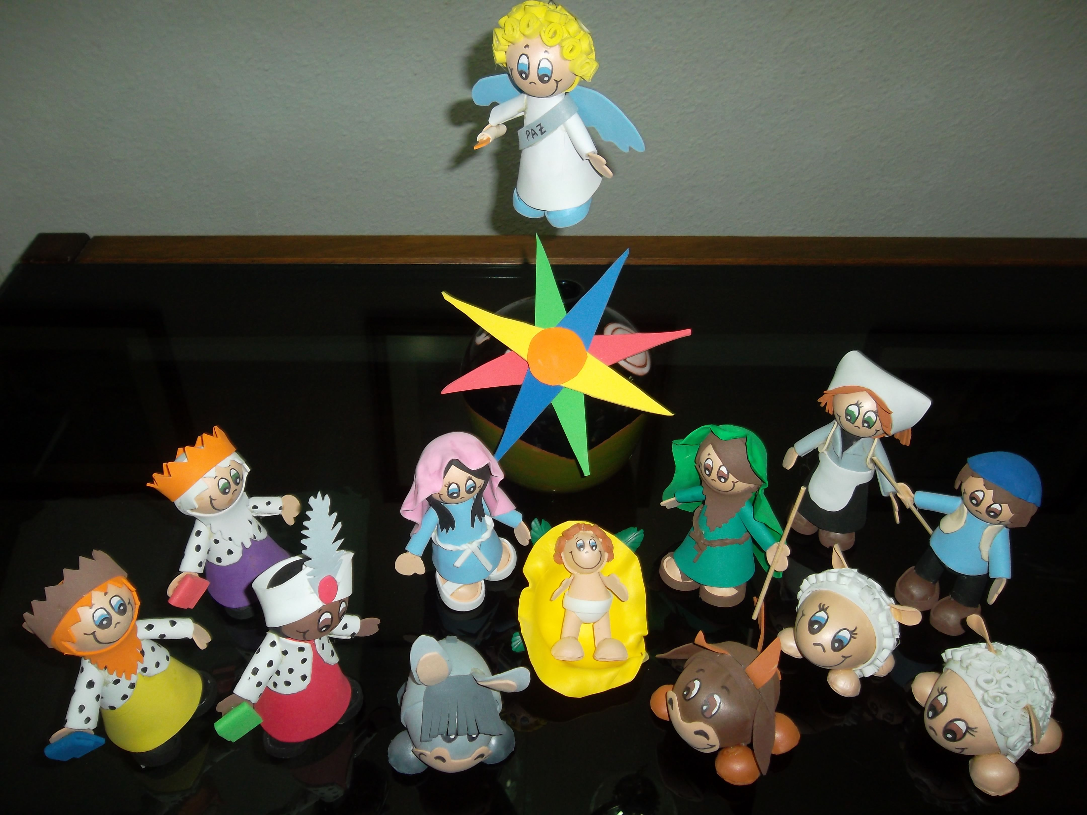 Bel n nacimiento nativity scene fofuchas goma eva foamy - Belen navidad manualidades ...