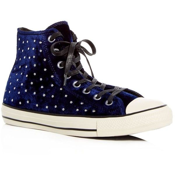 Converse Women's Chuck Taylor Embellished Velvet High Top Sneakers ArncxX