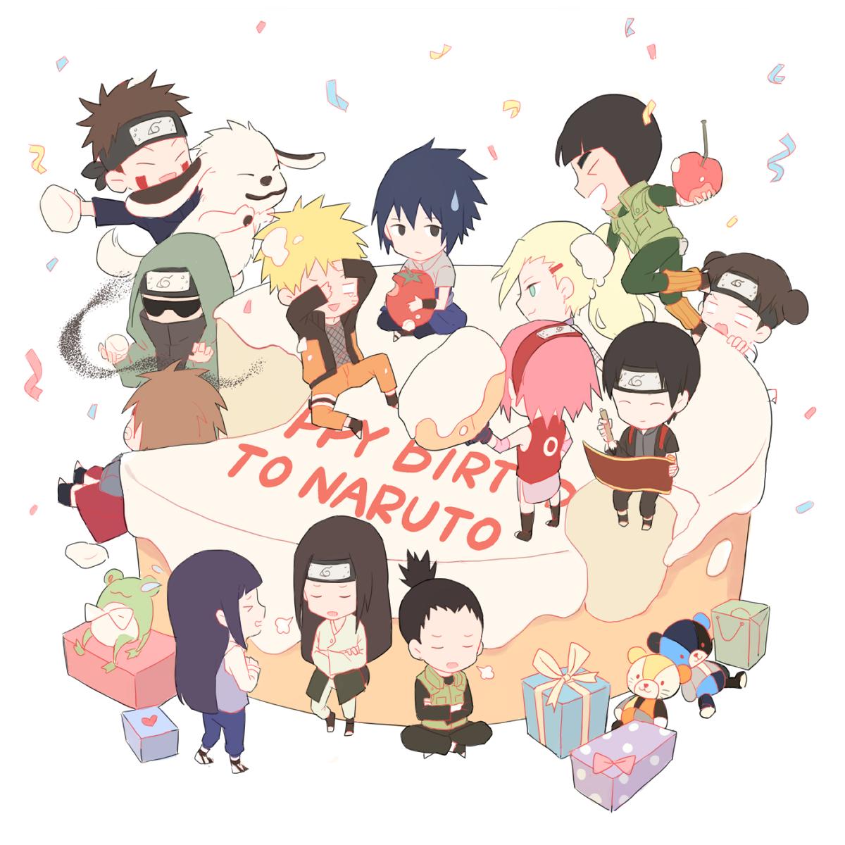 Открытки с днем рождения с аниме наруто