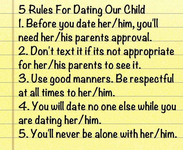 Teenager dating rules