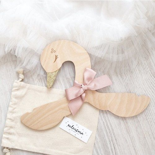 Valentina The Swan Wood Hanger Woodworking For Kids Baby Clothes Hangers Wood Hangers