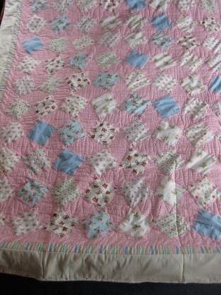 Overview of a Cath Kidson inspired quilt