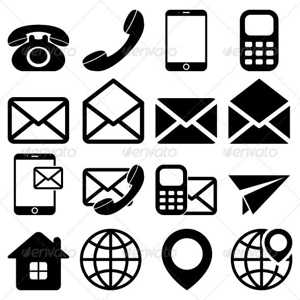 """""""Contact Us"""" Icons Set 