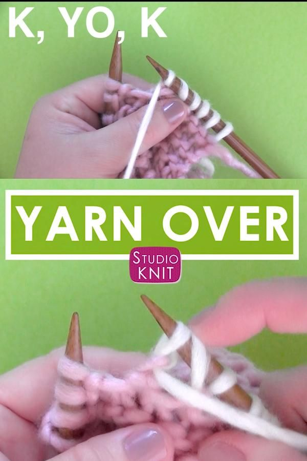 Photo of How to Knit a Yarn Over Increase Stitch