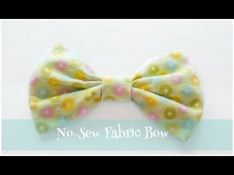 No-Sew Fabric Bow #fabricbowtutorial