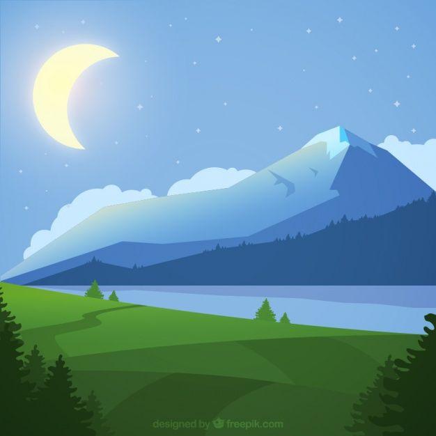 Download Mountainous Night Landscape Background For Free Night Landscape Landscape Background Landscape