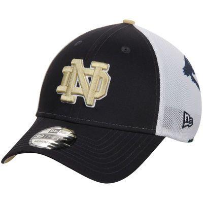 9456a0346b9 Notre Dame Fighting Irish New Era NCAA Logo Wrapped 39THIRTY Flex Hat - Navy