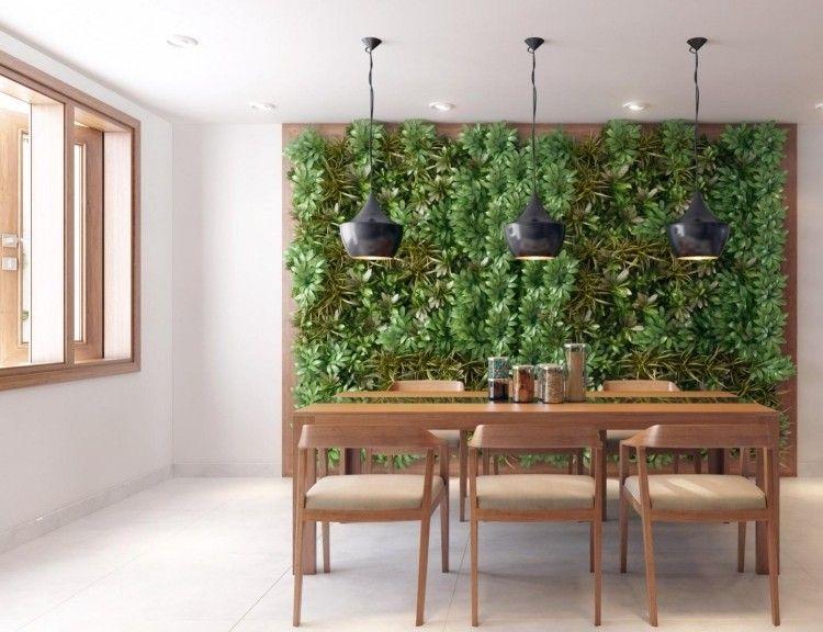 Mur v g tal int rieur en 80 id es pour la maison cologique moderne restaur - Maison en bois interieur ...