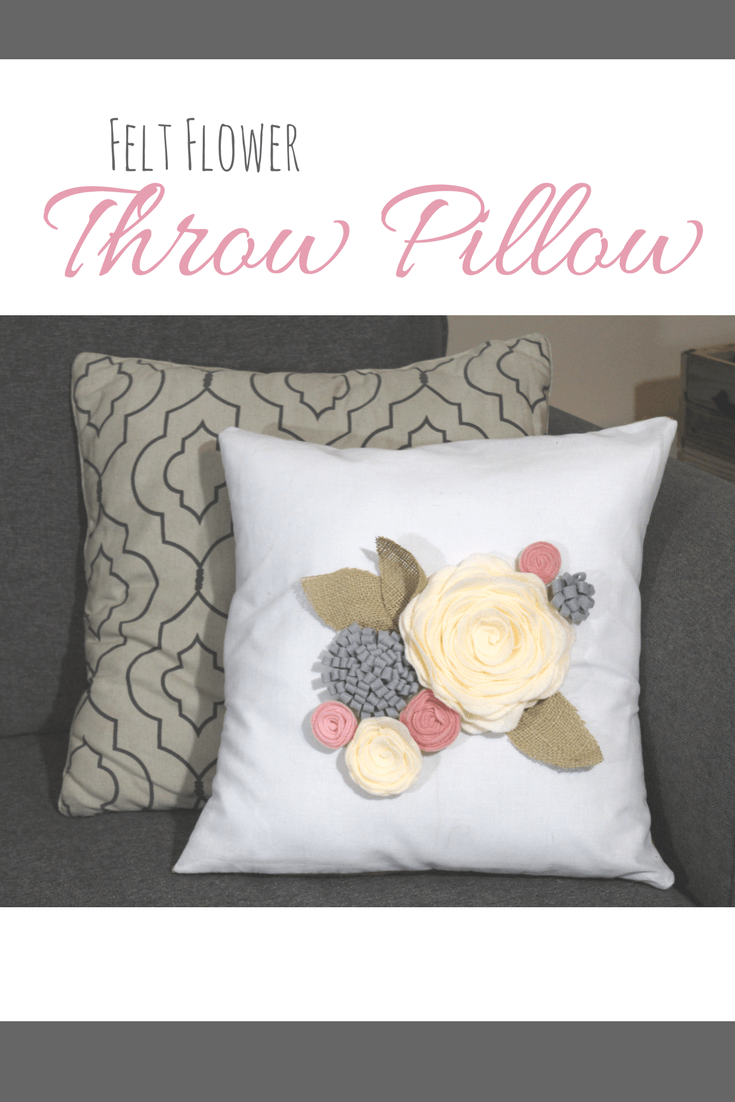 Felt Flower Throw Pillow Flower Throw Pillows Throw Pillows