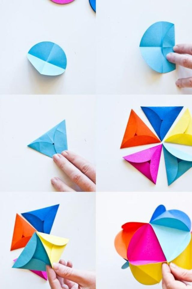 Colorful papercrafts to make when you are bored crafts paper flower ball or christmas paper ball ornament mightylinksfo