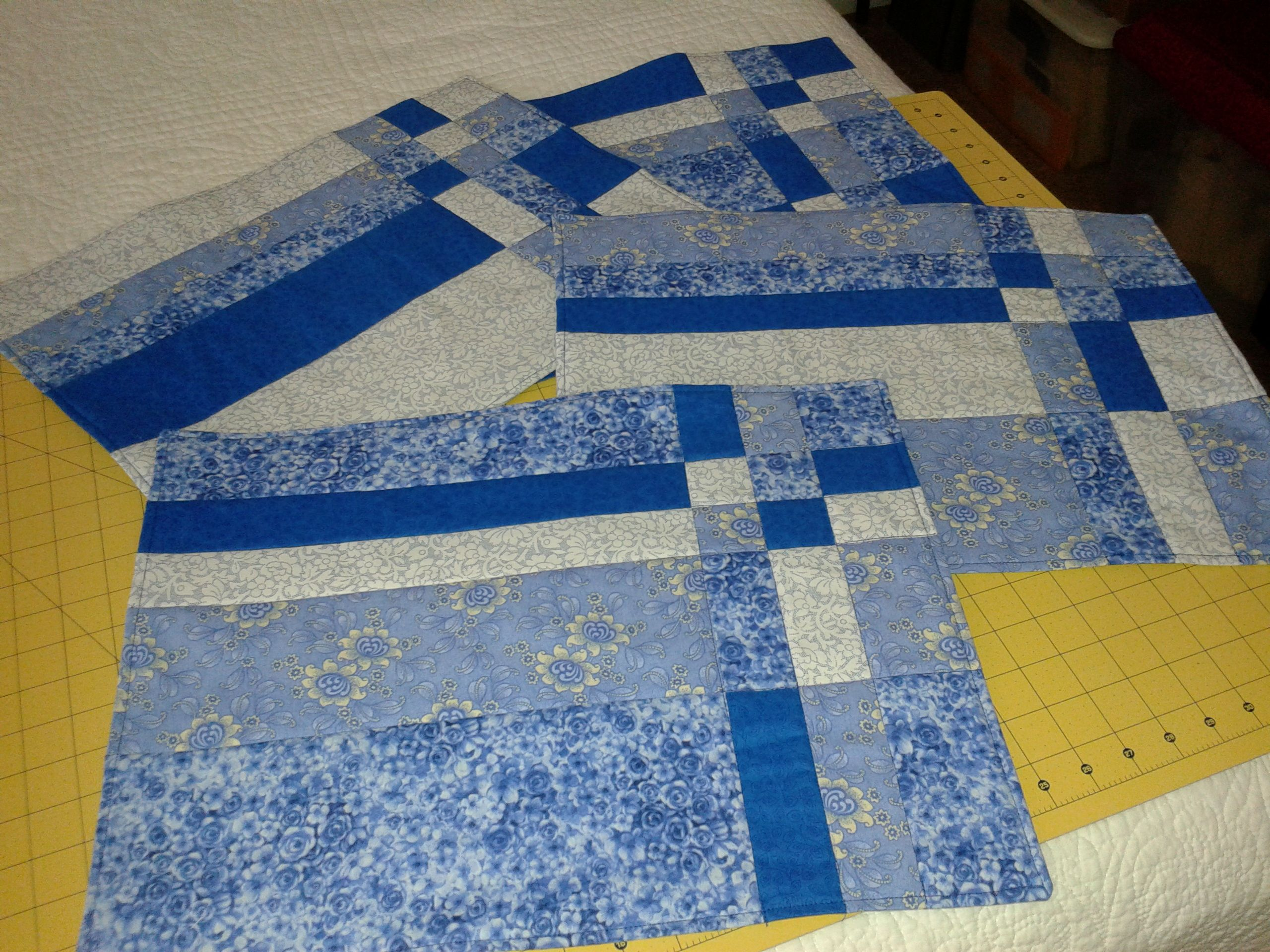 Take Four Pattern Used 4 Fat Quarters Placemats Place