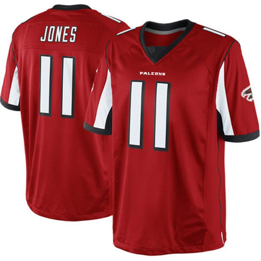 Linnacai Men S Adult Football Jerseys Atlanta Falcons 11 Julio Jones Red 1 Cheap Sports Fan Jerseys Awesome Products Sele Julio Jones Atlanta Falcons Nike