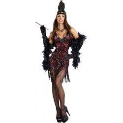 0fa612e50 Fantasia Feminina Anos 20 Burlesca Cabaret Halloween Carnaval