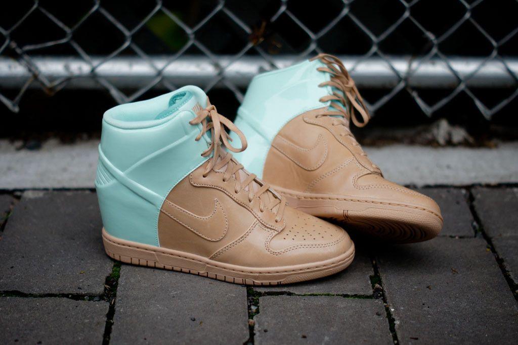 info for d1ac7 4dbf2 Nike WMNS Dunk Sky Hi VT QS - Caramel   Mint   Sneaker   Kith NYC
