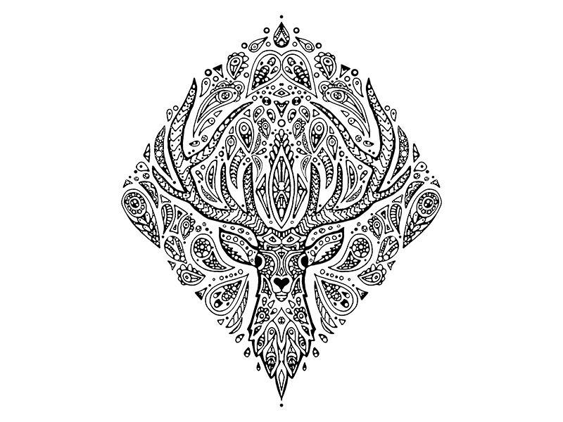 Deer Mandala Ink Mandala Tattoos Mandala Tattoo