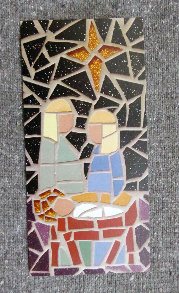 REDUCED Christmas card. Nativity scene from an original by ArtGeqo