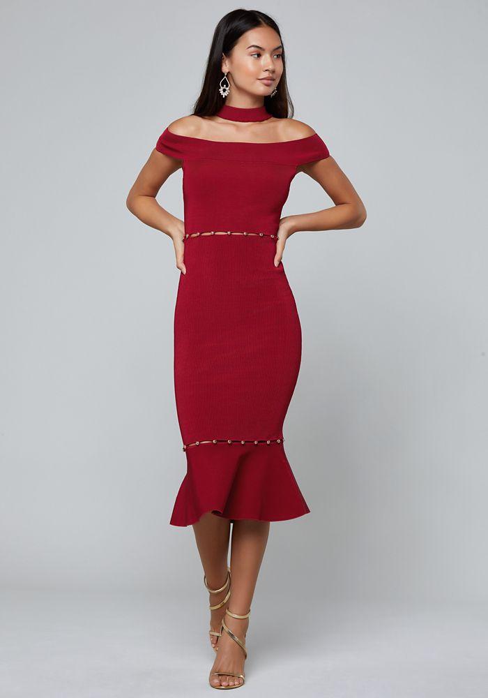 3a30883ee25 Bebe Women s Lara Choker Dress