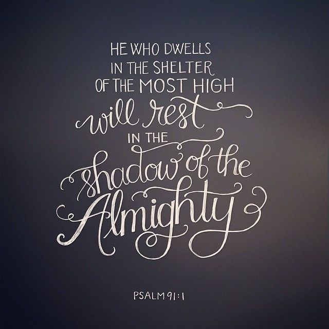 He who dwells in the secret place of the Most High shall abide under - the shadow of the almighty ministry