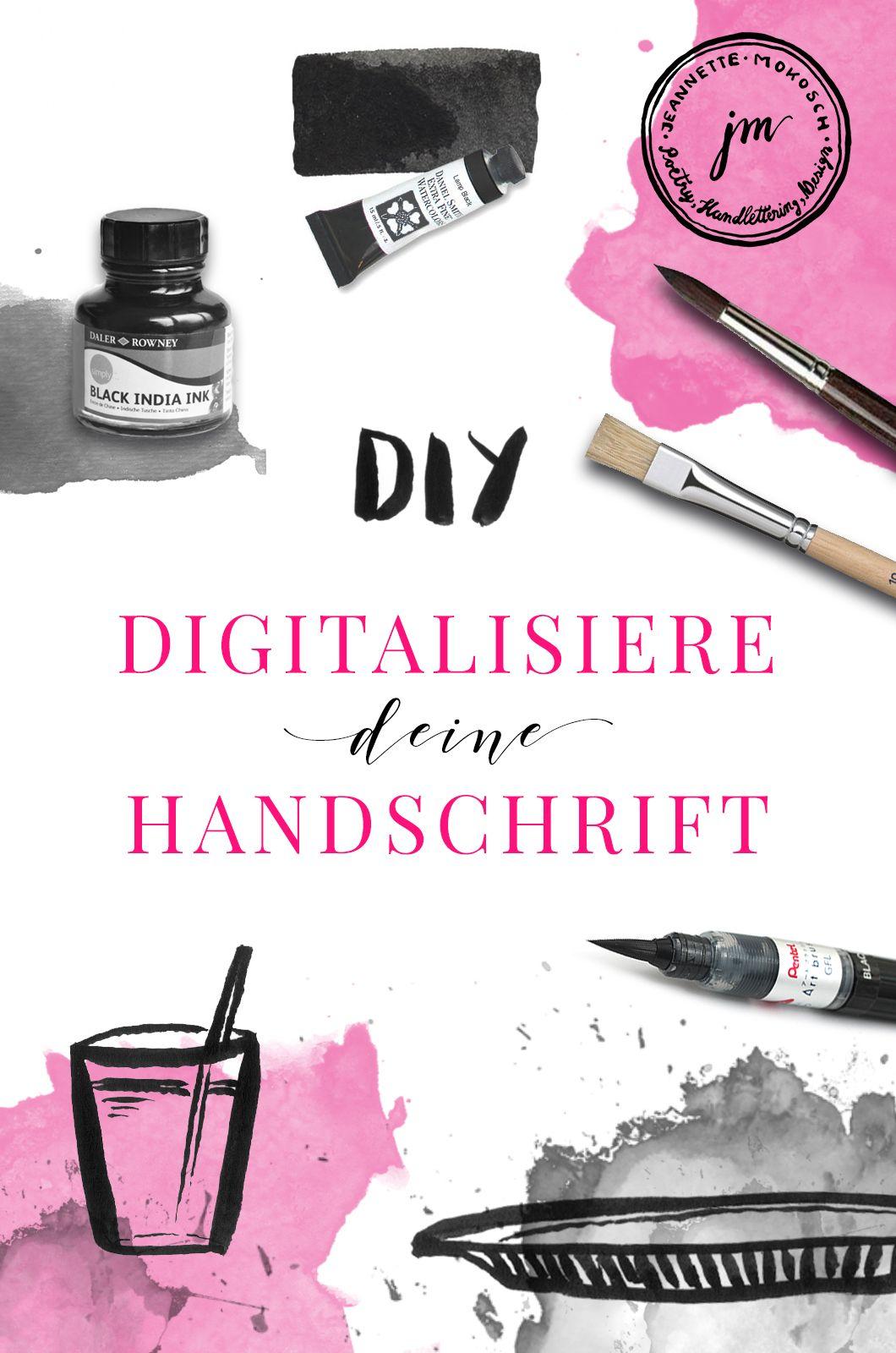 Diy Eigene Schrift Digitalisieren Handschrift Freistellen In