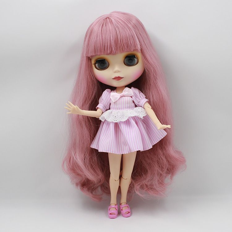"""12/"""" Factory blythe doll 1//6 bjd toy matte face custom doll brown hair joint body"""