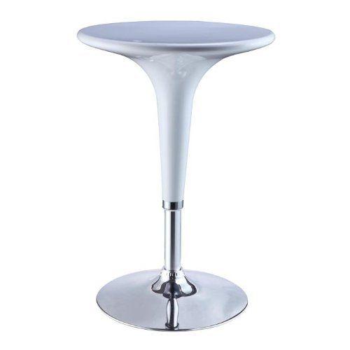 Terrific Powell Adjustable Height Bar Table White And Chrome By Inzonedesignstudio Interior Chair Design Inzonedesignstudiocom