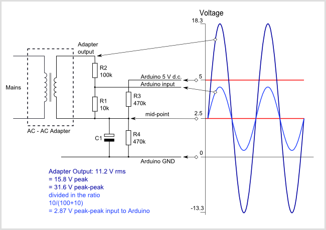 arduino ac voltage input circuit diagram arduino and pi stuff rh pinterest co uk