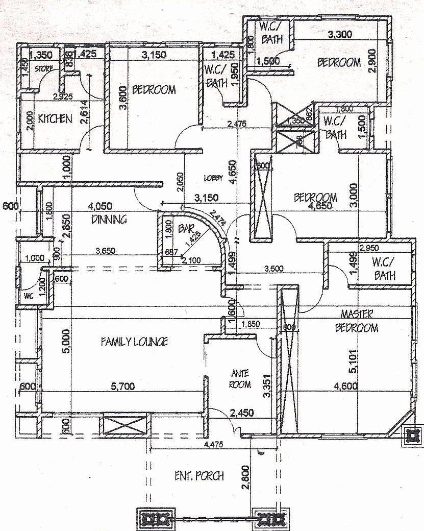 16 5 Bedroom Bungalow House Plans in 2020 | Duplex floor ...