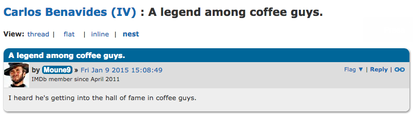 Still, it seems people are far more impressed by his work in caffeination.