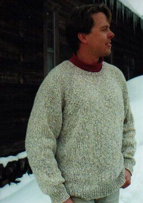 7e3d77423 Knitting Pure and Simple Men s Sweater Patterns - 991 - Neckdown Pullover  for Men Pattern