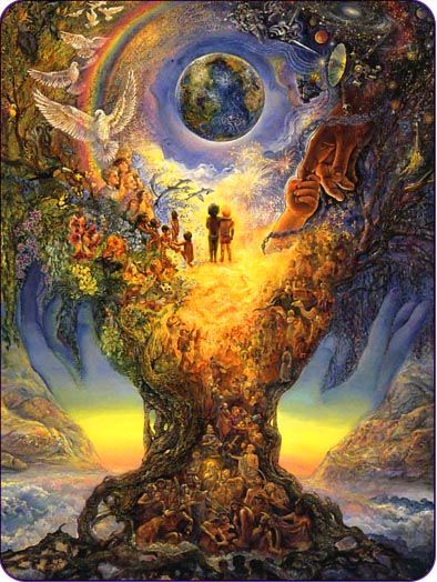 Original Art Painting Of The Creation And Garden Of Eden Earth With Images Josephine Wall Poster Wall Art Peace Poster