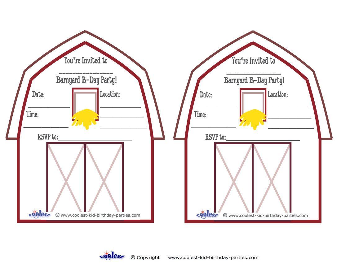 Printable Barnyard Invitations Coolest Free Printables Tobi 1