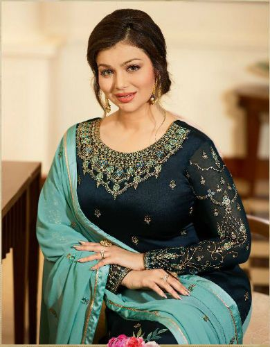 bf923feca6 Ayesha shararara vol 2 by Fiona Georgette satin with embroidery Suit 22215