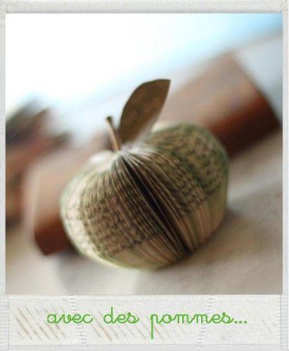 d corer 25 avec des pommes pommes bricolage et livre. Black Bedroom Furniture Sets. Home Design Ideas