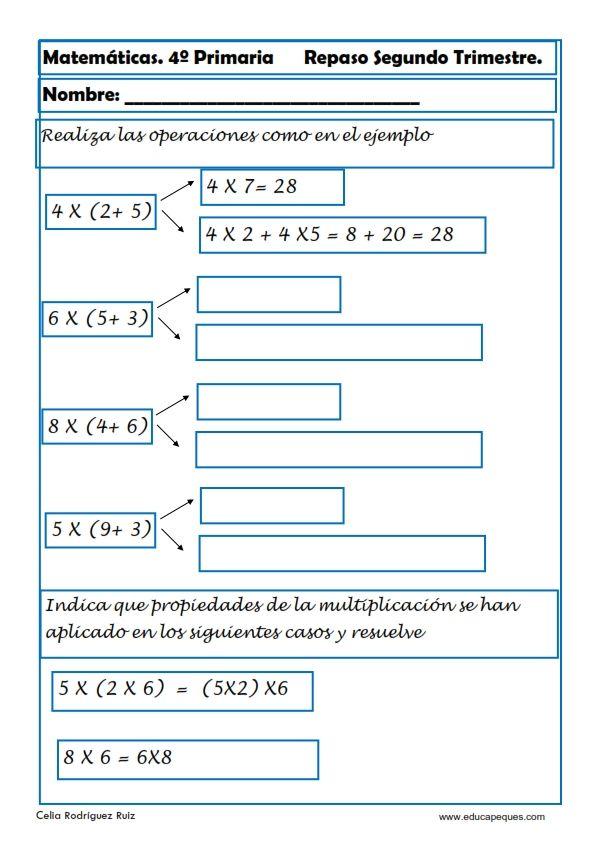 Problemas Para Niños De Cuarto De Primaria | Recursos Educativos Ejercicios Matematicas Primaria Hoy Nos Toca