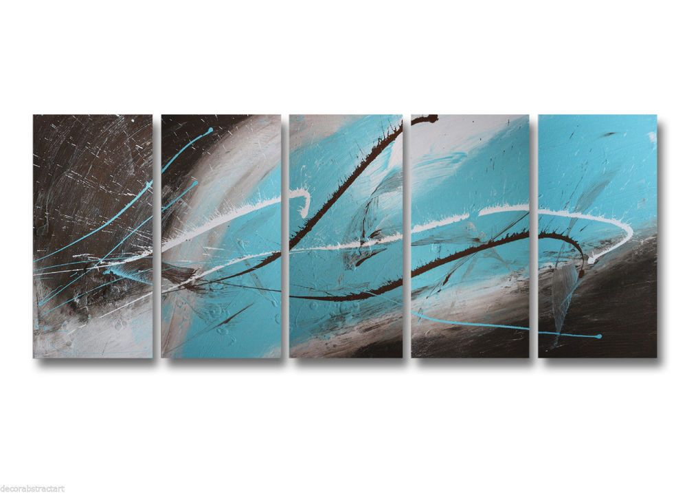 Abstract art canvas painting brown turquoise . Wall art Australia  sc 1 st  Pinterest & Abstract art canvas painting brown turquoise . Wall art Australia ...