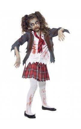 disfraz de halloween zombie nina