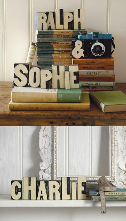 Wooden Printer S Block Letters Craft Ideas Pinterest Block