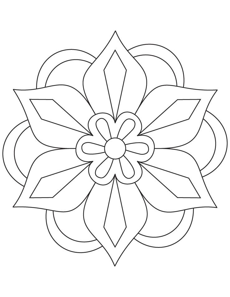 diwali rangoli coloring pages flower rangoli coloring
