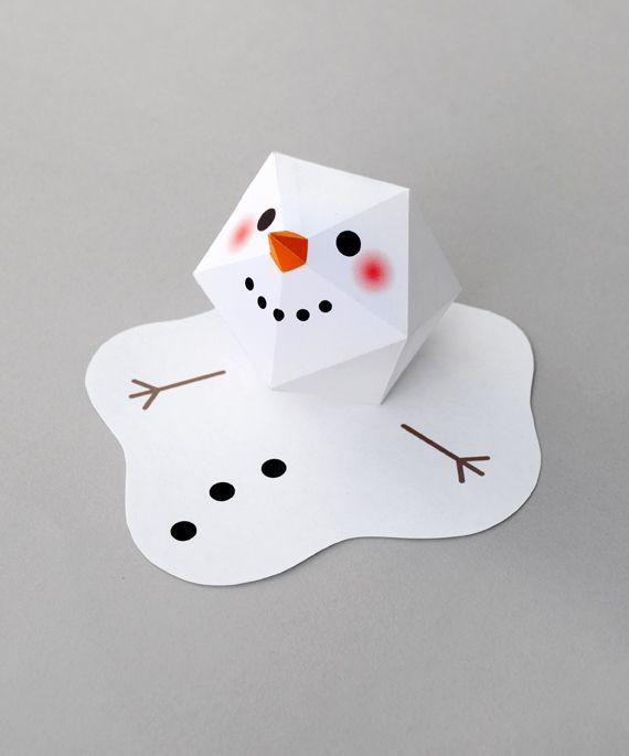 Melting Paper Snowman Paper Crafts Pinterest Snowman Craft