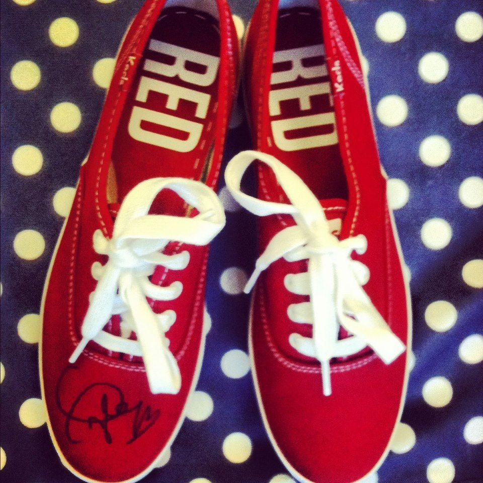 41c98ad4ca20 Signed Taylor Swift RED Keds I have the shoes but not signed ...
