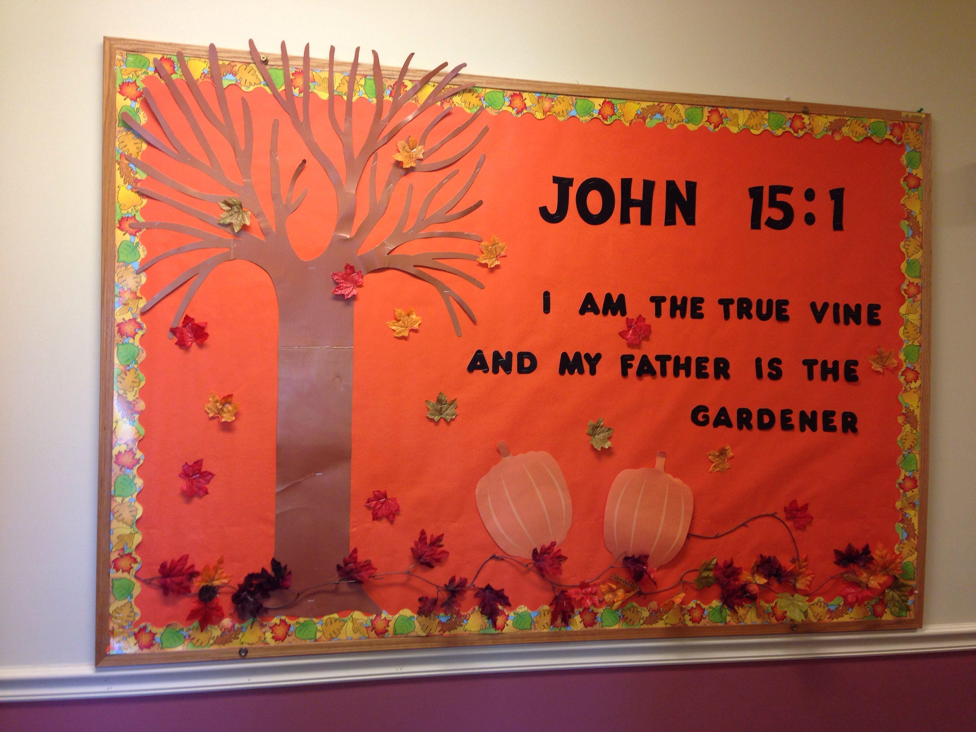 Pin By Sofia Sprayberry On Sunday School Fall Church Bulletin Boards